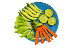 Plate with vegetables Royalty Free Stock Photography