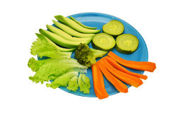 Plate with vegetables Royalty Free Stock Images