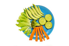 Plate with vegetables Stock Photography