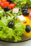 Plate with vegetarian salad Royalty Free Stock Images