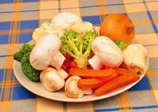 Plate of vegtables Royalty Free Stock Photos