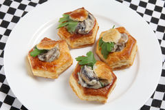 Plate of vol au vennts high angle Royalty Free Stock Image