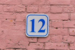 12 plate on the wall Stock Photography