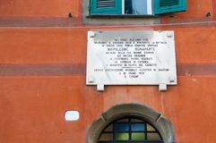 Napoleone Plate on a wall Royalty Free Stock Image