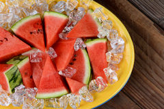 Plate of Watermelon Slices Royalty Free Stock Photo