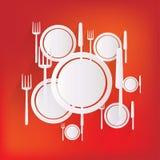 Plate web icon Stock Photos
