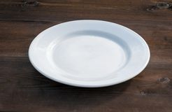 plate white Arkivbild
