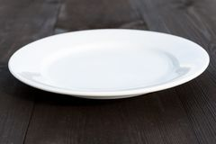 plate white Arkivbilder