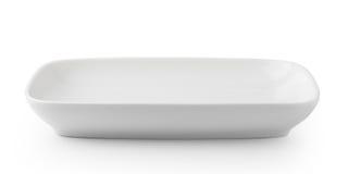 plate white Royaltyfria Foton