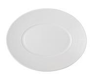 plate white Royaltyfri Bild