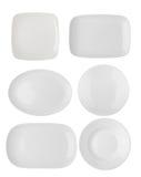plate white Royaltyfri Foto