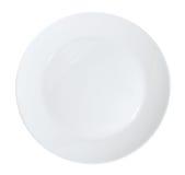 plate white Royaltyfria Bilder