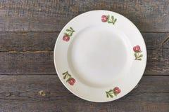 plate white Arkivfoton