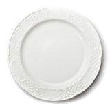 Plate on white background Royalty Free Stock Photo