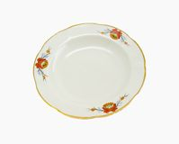 Plate on a white background Royalty Free Stock Photography