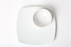 Plate. On white background. Close up plate white background Royalty Free Stock Images