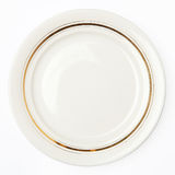 Plate on white background Stock Images