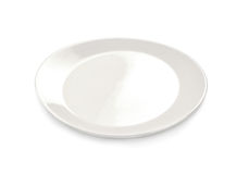Plate on white background. Plate isolated on white background Royalty Free Stock Images