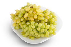 Plate of white grapes Royalty Free Stock Image