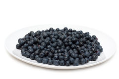 Plate with whortleberry Royalty Free Stock Image