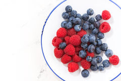 Free Plate With Berries On A White Background On Top Royalty Free Stock Photo - 89963115