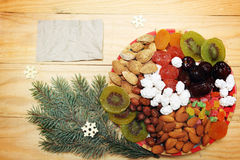 Plate With Dried Fruit Royalty Free Stock Photos