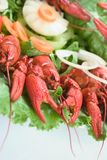 Plate With Lobsters Royalty Free Stock Image