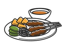 Free Plate With Snack And Bowl Of Sauce Isolated Illustration Royalty Free Stock Photo - 101908865