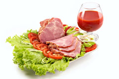 Free Plate With Snack From Bacon Stock Photos - 1981513