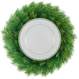 Plate in wreath Royalty Free Stock Images