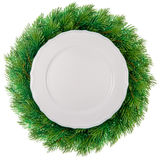 Plate in wreath Stock Photography