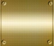 Plateado de metal con los tornillos ilustración del vector