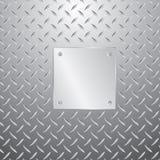 Plateado de metal en la placa ilustración del vector