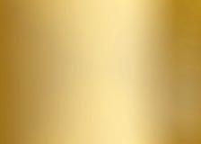 Plateado de metal liso del oro Imagen de archivo