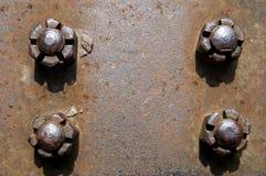 Plateado de metal oxidado Fotografía de archivo libre de regalías