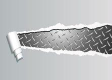 Plateado de metal rasgada stock de ilustración