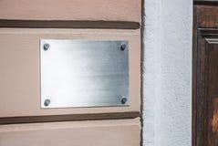 Plateado de metal vacío fotografía de archivo libre de regalías