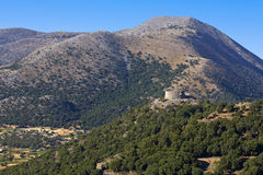 Plateau of Askyfou at Crete island in Greece Stock Images