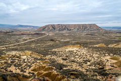 Plateau in Bardenas Reales Royalty Free Stock Photo