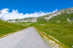 Plateau Campo Imperatore - big horn Obrazy Royalty Free