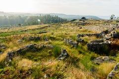 Plateau Citania de Sanfins Portugal Stockbilder