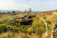 Plateau Citania de Sanfins Portugal Lizenzfreies Stockbild