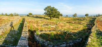 Plateau Citania de Sanfins Portugal Stockbild