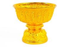 Plateau d'or avec le pupitre Image libre de droits