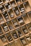 Plateau d'impression typographique Images libres de droits