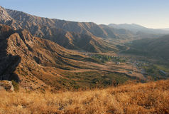 Plateau in de bergen dichtbij westelijk Tien Shan Royalty-vrije Stock Afbeelding