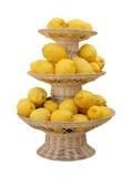 Plateau de citrons Images libres de droits