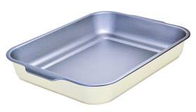 Plateau de cuisson en métal d'isolement sur le blanc Image libre de droits