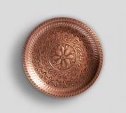 Plateau de cuivre rustique de grange photo stock