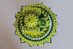 Plateau de décoration des cadeaux de mariage traditionnels thaïlandais Photos stock